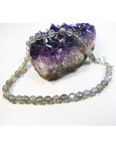 bracelet labradorite perles rondes
