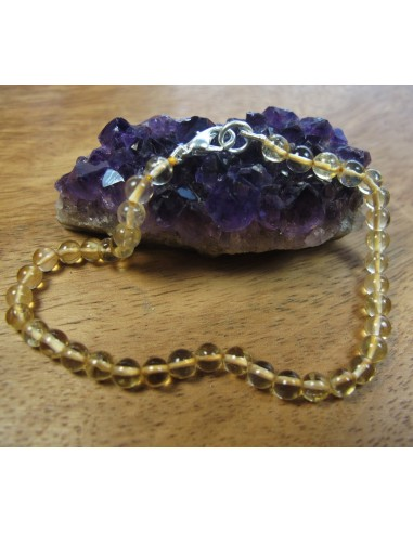 bracelet citrine perles rondes