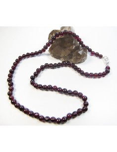 collier grenat perles rondes