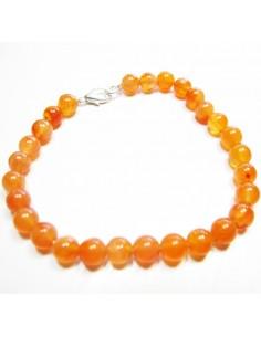 bracelet cornaline perles rondes 7mm