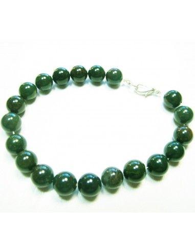 bracelet agate perles rondes 8mm