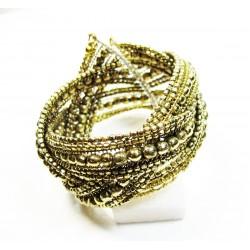 bracelet doré torsadé
