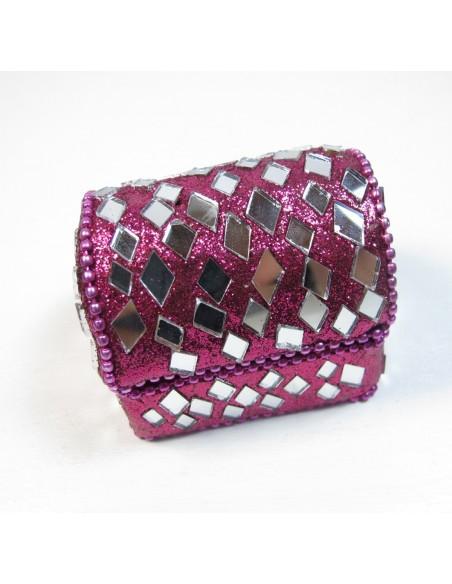 mini coffre rose à paillettes