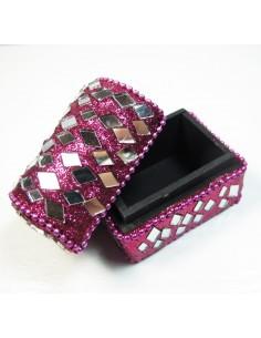 mini coffre rose à paillettes 2