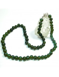 collier en pierres aventurine diam 6mm