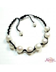 bracelet en perles et noeud coulissant