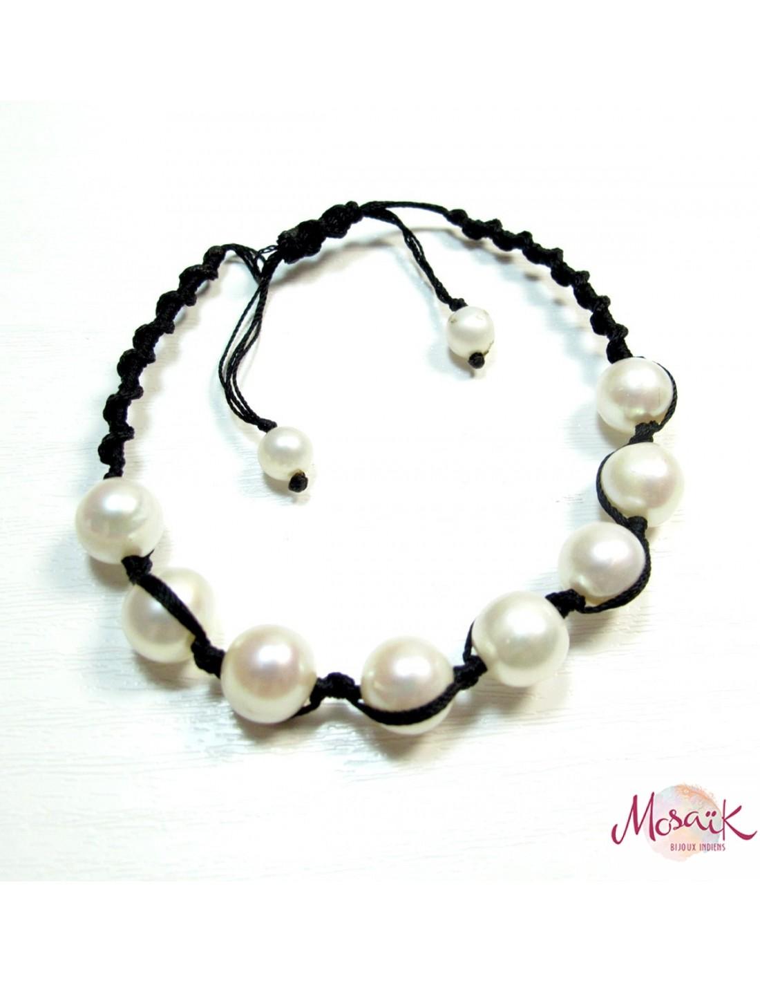bracelet perle noeud coulissant