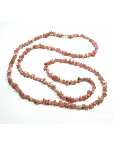 collier en rhodocrosite long