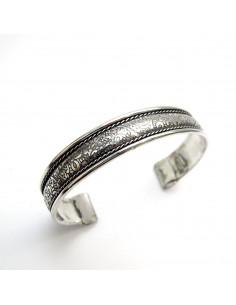 Bracelet argenté travaillé - Mosaik bijoux indiens 2