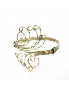 bracelet de bras doré volutes