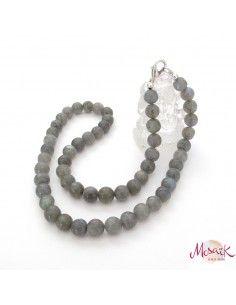 collier labradorite perles rondes 6mm