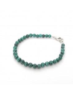 bracelet en pierres malaquite 5mm