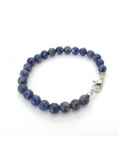 bracelet en pierres rondes lapis lazuli 8mm