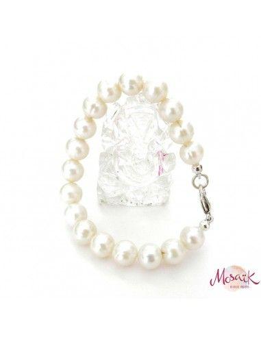 Bracelet perles blanches - Mosaik bijoux indiens