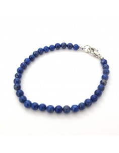 bracelet lapis lazuli perles rondes 5mm