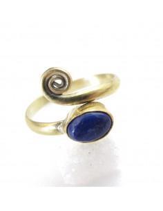 bague de phalange laiton et lapis lazuli