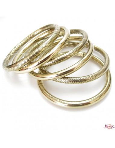 lot de 6 bracelets dorés