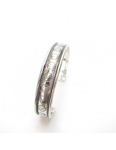 bracelet argenté ying yang