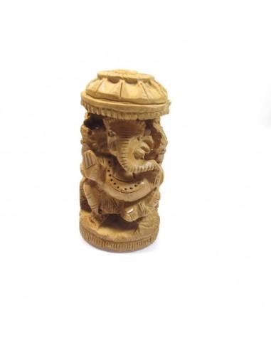 Figurine en bois Ganesh