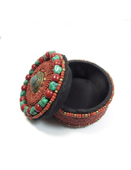 Boite à bijoux style ethnique