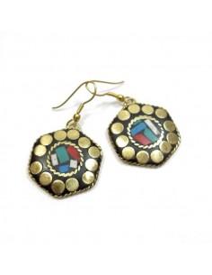 Petites boucles d'oreilles tibétaines