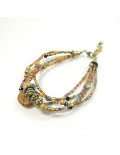 Bracelet à perles camel