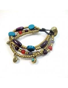 Bracelet doré à perles