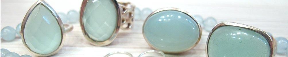 Bijoux en Onyx bleu montés sur argent ou fil | Boutique Mosaik