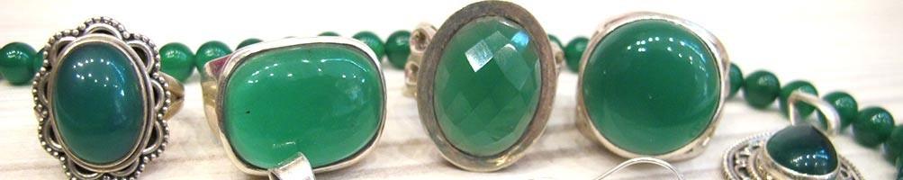 Bijoux pierre verte - Mosaik bijoux indiens