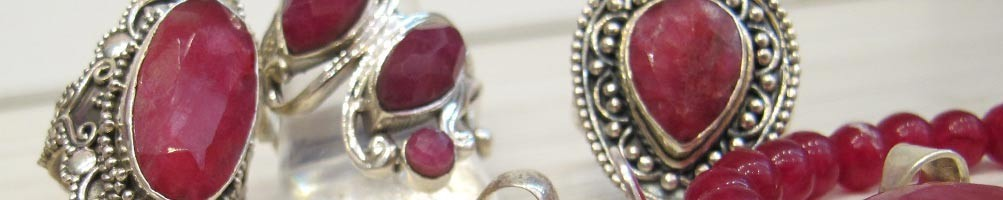 Bijoux en rubis indien et argent | Boutique Mosaik