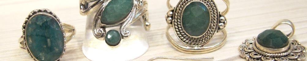 Bijoux en Emeraude indienne sur argent | Boutique Mosaik