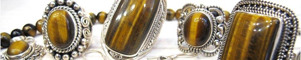 Bijoux oeil de tigre - Mosaik bijoux indiens