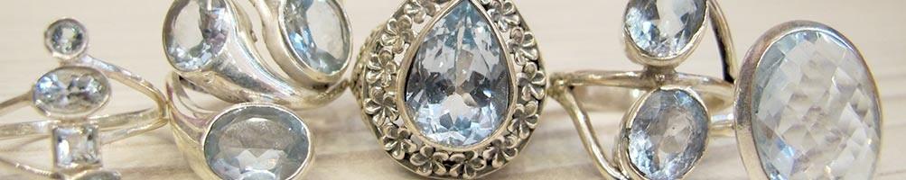Bijoux en Topaze bleu sur argent, collier, bracelet | Boutique Mosaik