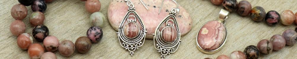 Bijoux pierres roses - Mosaik bijoux indiens