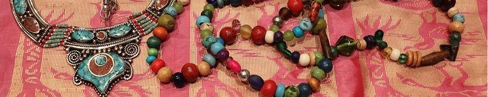 Colliers & sautoirs ethniques indiens pas chèr| Boutique Mosaik