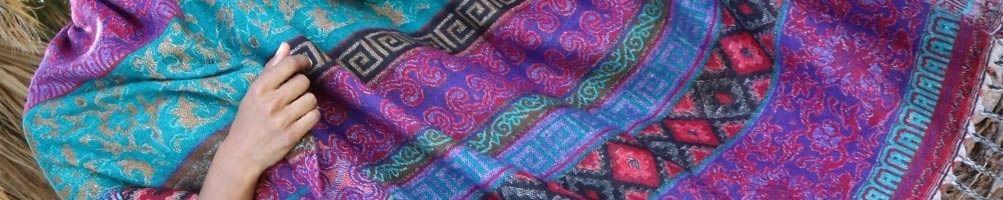 Grandes étoles & écharpes colorées d'Inde | Boutique Mosaik