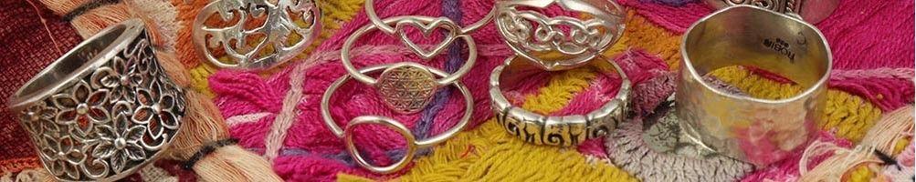 Bagues ethniques tout argent | Mosaik bijoux indiens