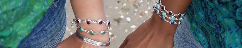 Bracelets argent ethniques - Mosaik bijoux indiens