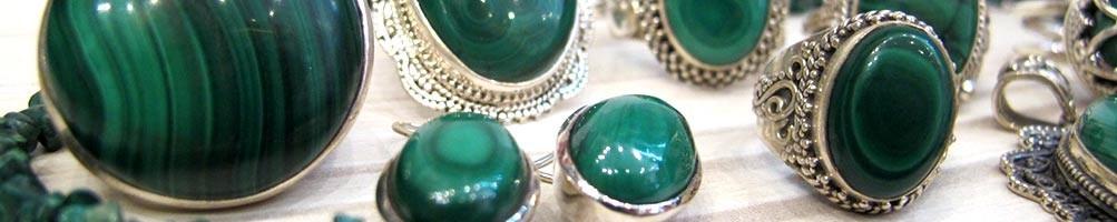Bijoux en Malachite sur argent | Boutique Mosaik