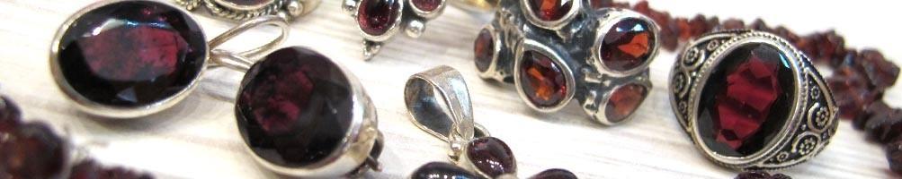Bijoux en Grenat sur argent | Boutique Mosaik