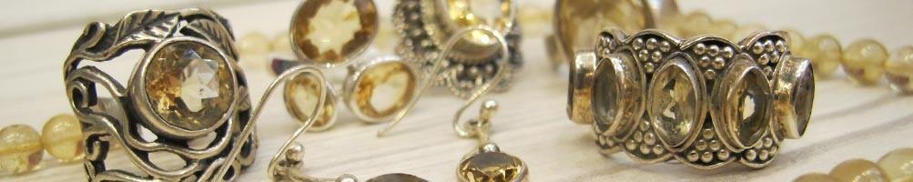 Bijoux en Citrine et argent | Boutique Mosaik