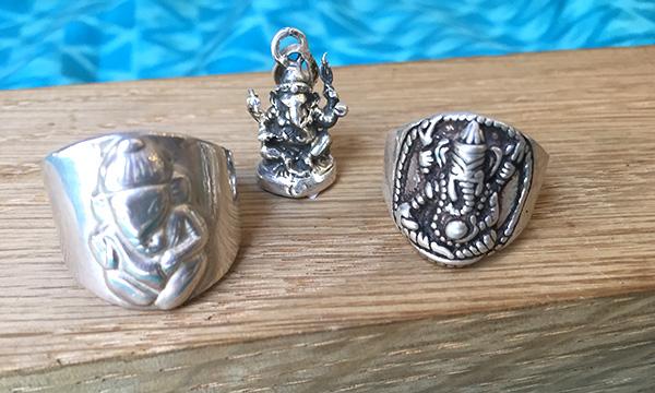 bagues argent Ganesh