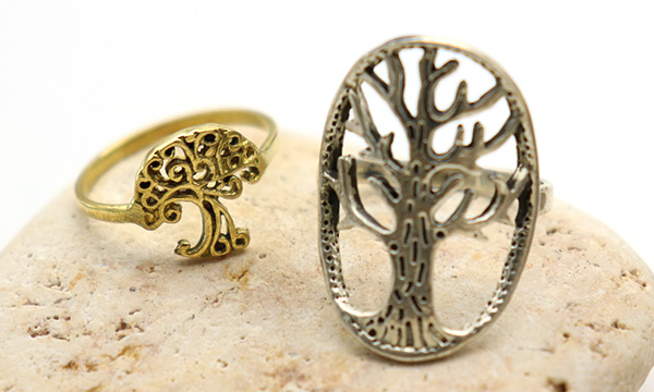 bagues arbre de vie en argent