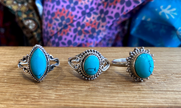 bague turquoise indienne