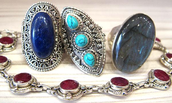 bijoux argent et pierres