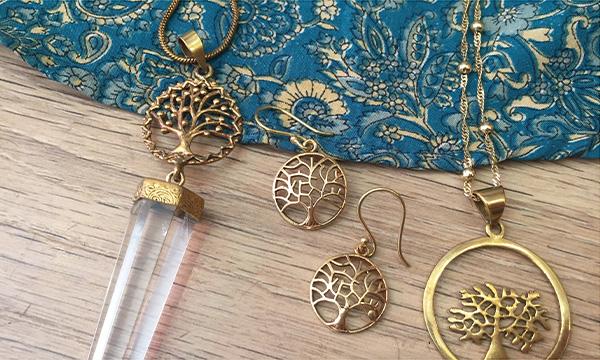 bijoux arbre de vie en laiton