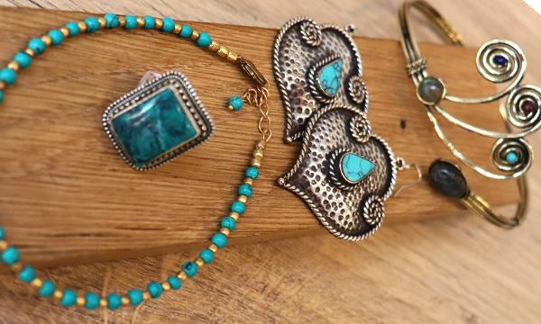 bijoux et turquoise