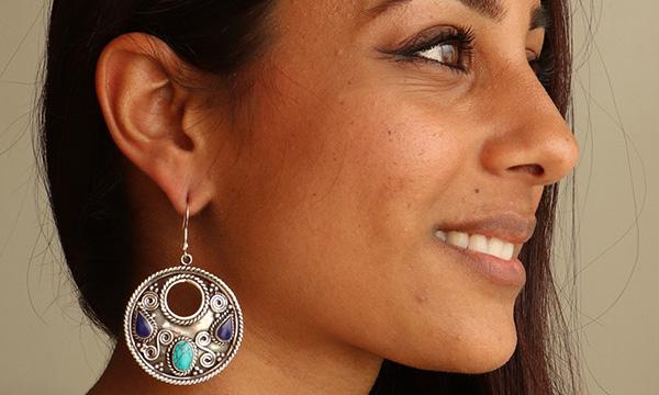 boucle d'oreille tibétaine