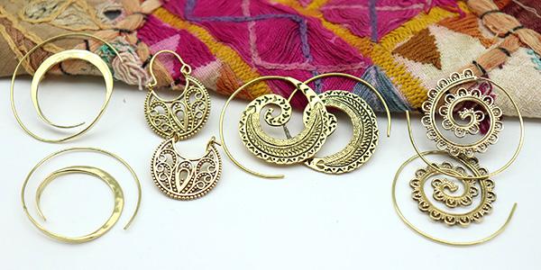créoles spirale dorées