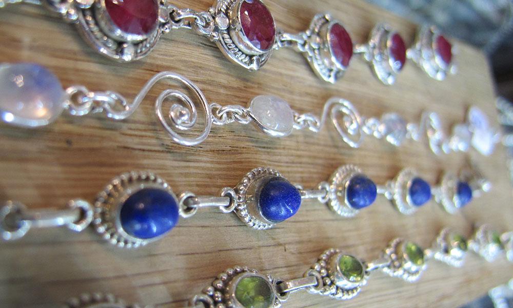 bracelets argent pierres véritables